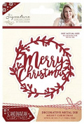 Sara Signature Collection Scandinavian Christmas Die - Merry Christmas, Silver