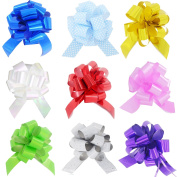 Yeeper 9 different bright colours Car Bow Ribbon Loops for Your Gift Decoration Perfect Shape Guaranteed
