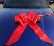 """Yeeper 60cm Red Car Bow Giant with 56"""" Ribbon Strings for Wedding, Party Decor, Birthday, Graduation, Christmas Gifts & Special Presents"""
