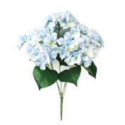 Covermason 7 Heads Bouquet, Artificial Hydrangea Silk Flower Bunch Home Hotel Wedding Party Garden Decor