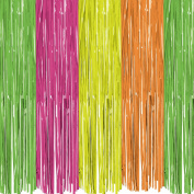 Decorations, Curtain Pl - Neon