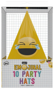 NPW Emoticon Birthday Party Hats - Cone Party Hats Get Emojinal