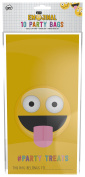 NPW Emoticon Paper Party Bags - Yellow Party Bags Get Emojinal