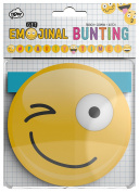 NPW Emoticon Birthday Party Bunting - Bunting Flags Get Emojinal