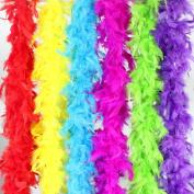 Coceca 6PCS 2m Colourful Party Feather BOA