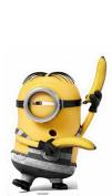 Star Cutouts SC1043 Life Size Cut Out Of Prison Banana Minion, 84 cm