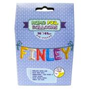 "Name Foil Balloons 16""/41cm Air Filled 'Finley'"