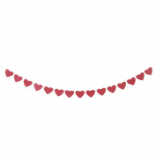 sourcingmap® Paper Heart Shaped Party Decoration Photo Prop Bunting Banner 3 Metre Length Red