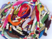 50 Silk Rayon Stranded Skeins Embroidery Threads, 50 great Colours,