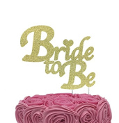 Bride to Be Cake Topper - Hen Party Cake Topper - Gold