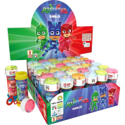 12 PJ Masks Childrens Birthday Party Loot Favour 60ml Bubbles Tubes