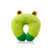 U-shaped Plush Pillow Travel Pillow Cartoon Animal Car Headrest Pillow Frog