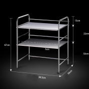 Thickened kitchen rack / microwave oven / floor stainless steel pot rack / kitchen supplies storage rack