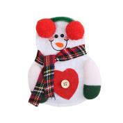 Gloryhonor Santa Claus Pattern Cutlery Holder Utensil Bag Fork Knife Pocket Xmas Decoration