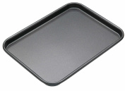 Medium Oven Tray - Teflon Long Lasting British Standards - Cooking Bake Baking Equipment Oven Dishwasher with Easy Safe Clean Off Technology - Size is 34.5 x 24.5 x 2.5 (cm - Approx) - By Guilty Gadgets