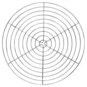 Staedter Round Cake Grid with Feet, Grey, 32 cm Diameter