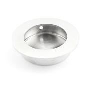 sourcingmap® Stainless Steel Round Drawer Sliding Door Pull Handle Knob 50mm