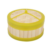22cm Bamboo Steamer Steamer Rice Lotus Leaf Steamed Chicken Steamer Snack Steamed Bamboo Dumplings Steamer Bamboo Cage 6 Inch A Drawer
