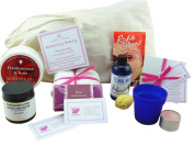 Balancing Beauty Spa Journey For A Best Friend – An All Natural Spa Bag With Frankincense & Rose Essential Oils. Calming Aromatherapy Skin Care Products, A Set Of 'Best Of Friends' Quote Cards & A Relaxing Tea Light Candle, To Nourish Both Body And Min ..