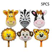 Dreammy 5pcs Animal Head Shape Foil Balloon Birthday Wedding Party Baby Decor New