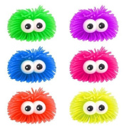 2 x Bulging Eyes Stress PUFFER BALLS -Squidgy Ball, Squeeze, Play Sensory Toy & Mobile Eraser