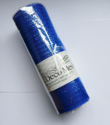 Eleganza Royal No.18 Metallic Deco Mesh, Blue, 25 cm x 9.1 m