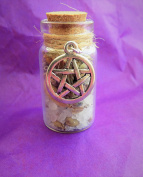 Witch Bottle for Luck in an Organza Pouch A Talisman Created by a Practising Witch