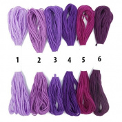 Lilac Lavender Orchid Violet Onion Mulberry Cross Stitch Cotton Embroidery Thread Sewing Skeins Floss By Accessories Attic®
