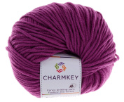 Charmkey Baby Cotton Yarn Simply Soft Boutique 4 Ply Medium Acrylic Blended Worsted Knitting Yarn for Garment Blanket Sock, 1 Skein, 45ml