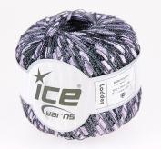 LADDER YARN by Ice Yarns No 121890cm lilac with black ladders + Free Scarf pattern