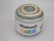Woolcraft Cakes 200g Aran Weight Chocolate Mint 12