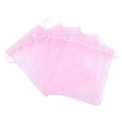 """iShine 100pcs Pure Colour Organza Gift Bags Wedding Party Favour Bags Jewellery Pouches Wrap 3.9""""x4.7""""/ 10 x 12cm Pink"""