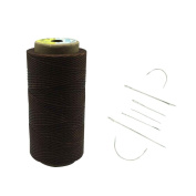 Yulakes 260 Metres 1mm Leather Waxed Wax Thread Corded Leather Needles Sewing Crafting With 7pcs leather sewing needles
