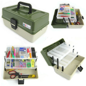 Ace Arts 2 Tray Craft Cantilever Box Sewing Embellishment Beads Paints Art Artist Box