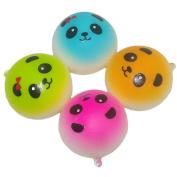 4Pcs Mini 4cm Slow Rising Squishy Kawaii Panda Bread Bun Phone Charm Bag Strap Pendant Squeeze Toy