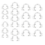 20 Pcs Dental Retractor Intraoral Cheek Lip Mouth Opener Clear C Type For Mouth Guard Party Game