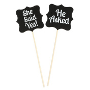 Veewon Wooden Wedding Signs She Said Yes Sign Party Accessories Photo Props Set
