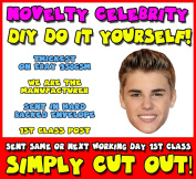 DIY - Do It Yourself Face Mask - Justin Bieber MINT 2013 Music Celebrity Face Mask