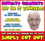DIY - Do It Yourself Face Mask - Jim Bowen Bullseye Celebrity Face Mask