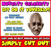 DIY - Do It Yourself Face Mask - Gandhi Celebrity Face Mask