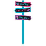 Mad Tea Party Sign Garden Stake