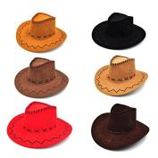 LUOEM Child Cowboy Hat for Birthday Festival Party Favour 6pcs