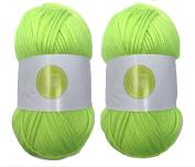 Fluo Green House of Cecilia 2 x 100g balls 100% acrylic knitting yarn crochet crafts