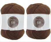 James Brown House of Cecilia 2 x 100g balls 100% acrylic knitting yarn crochet crafts