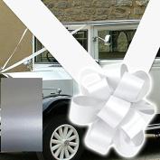 RIBBON AND BOWS WEDDING CAR DECORATION KIT X3 LARGE BOWS & 8 METERES OF RIBBON