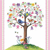 Paperproducts Design 1251549 High Quality Beverage/Cocktail Love Tree with Birds 1331529 Paper Napkins (20 Pack), Multicolor