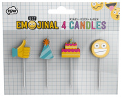 NPW Emoticon Birthday Cake Candles - Pack of 4 Candles Get Emojinal