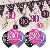 30th Birthday Decorations Pink