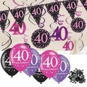 40th Birthday Decorations Pink