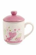 Galileo Casa Corazon Tea Cup, Ceramic, Pink